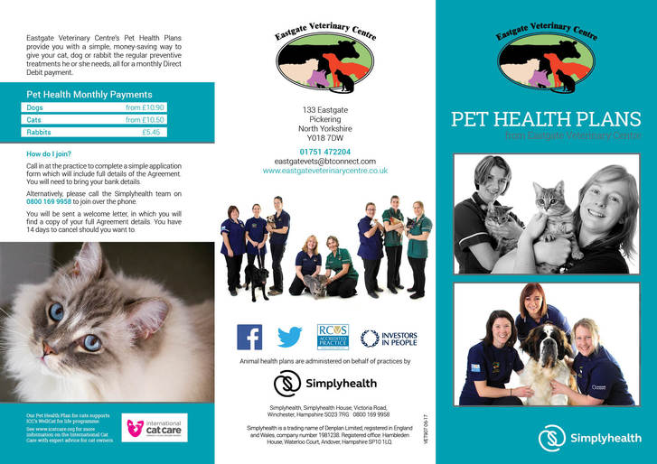 Pet Health Plans brochure (outer)